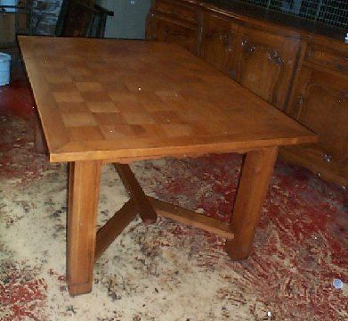 FRENCH ANTIQUE ART DECO TABLE DESK DINING TABLE PARQUET
